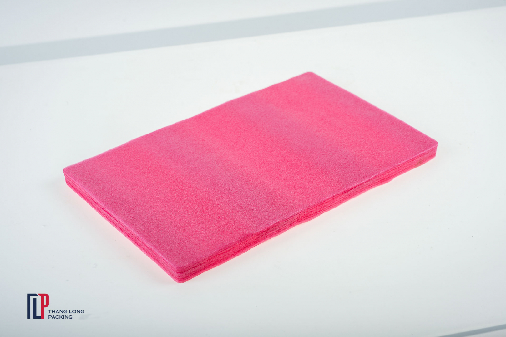 Shaped perforated pink PE foam